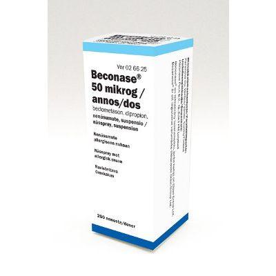 BECONASE 50 mikrog/annos nenäsumute, susp 200 annosta