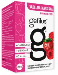 Gefilus Apteekkarin vadelma purutabletti 60 kpl