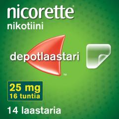 NICORETTE 25 mg/16 h depotlaast 14 kpl